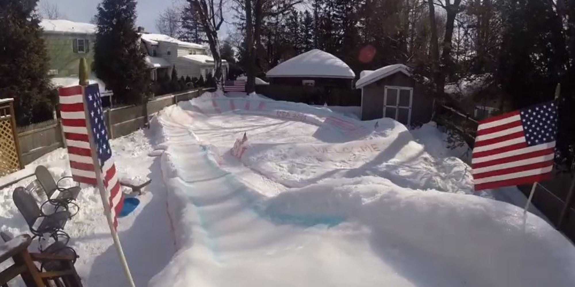 Dad S Backyard Luge For His Kids Is Fit For The Olympics