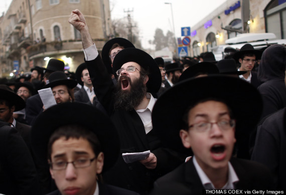 orthodox jews protest