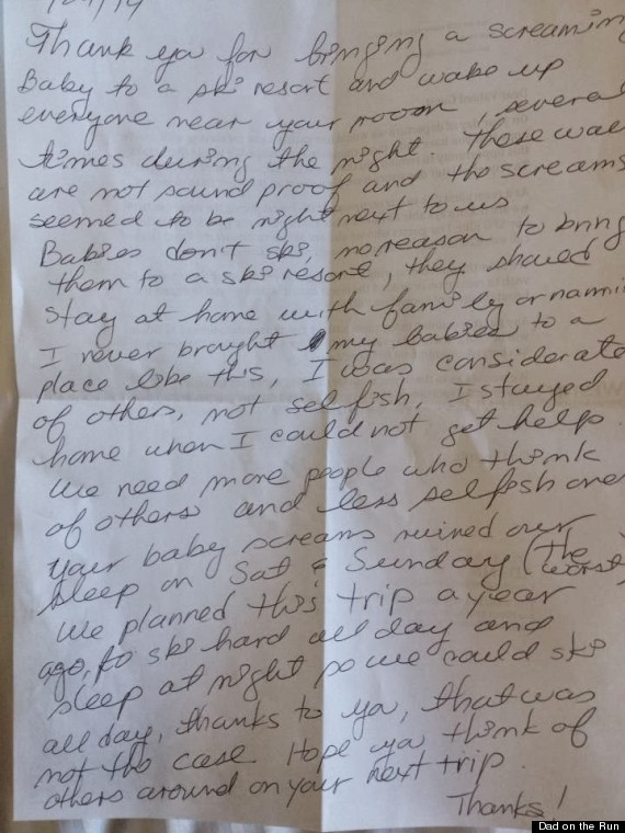 To The Person Who Left My Sister This Unbelievably Judgmental Letter Dad On The Run