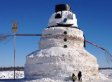 This 50-Foot Snowman Is Named 'Granddaddy'