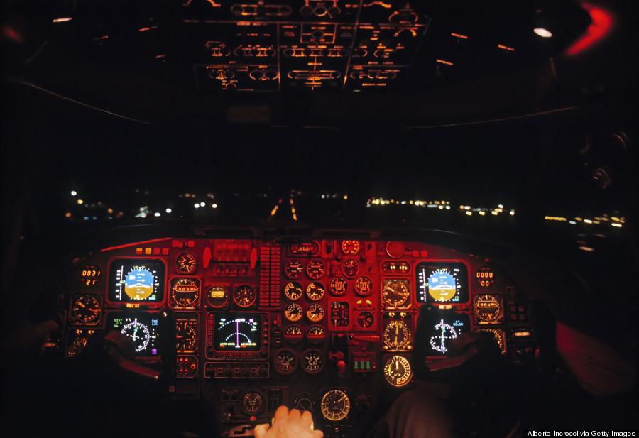 plane landing cockpit