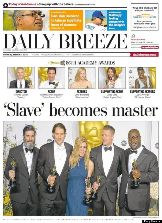 Newspaper Publishes Astoundingly Racist 12 Years A Slave Headline