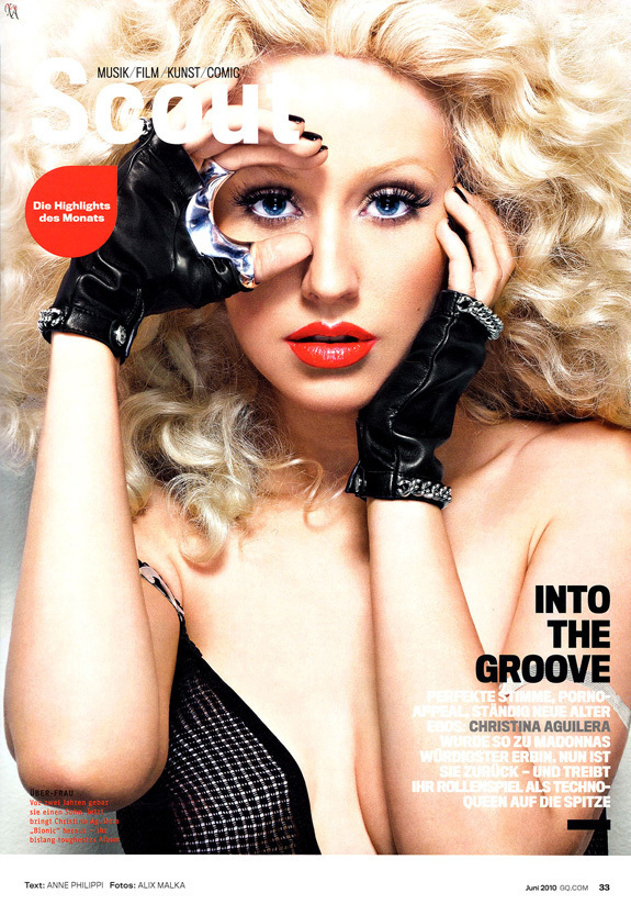 CHRISTINA AGUILERA GERMAN GQ Here's a tip for Christina Aguilera's stylist come next year's American ...