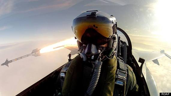 royal danish air force missile selfie