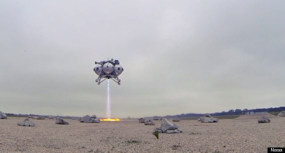 Nasa Morpheus Project Vehicle Test Looks Like A Sci-Fi Film