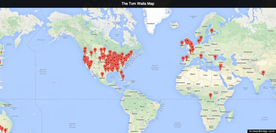 tom waits song map