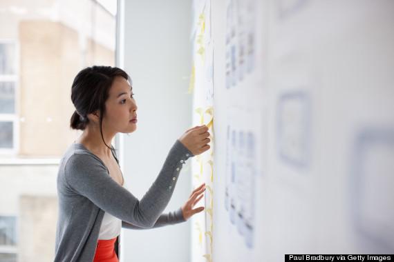 woman creative plan