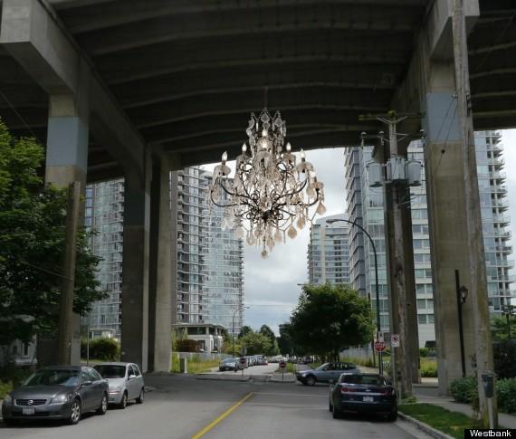spinning chandelier