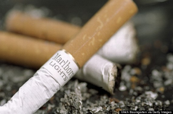 cigarette butt fire
