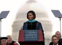 Michelle Obama George Washington Graduation