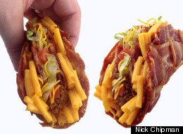 The Mac And Cheese Stuffed Bacon Weave Taco