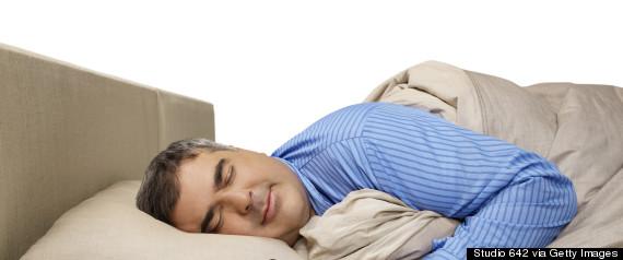 mature sleeping