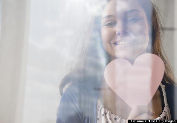 teen girl happy