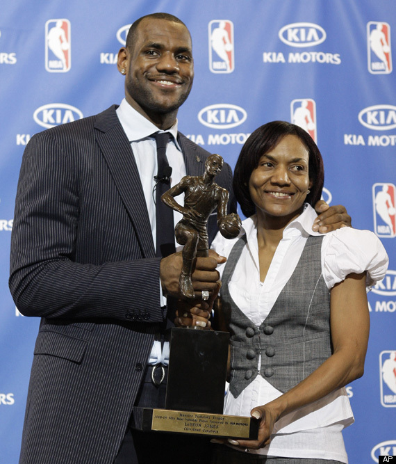 lebron james mother delonte west affair. AfricanAmerica.org: LeBron#39;s