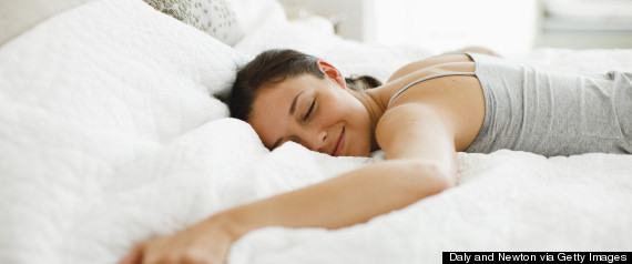 woman bed to herself