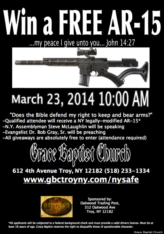 Grace Baptist Church To Give Away AR-15 Semi-Automatic Rifle For