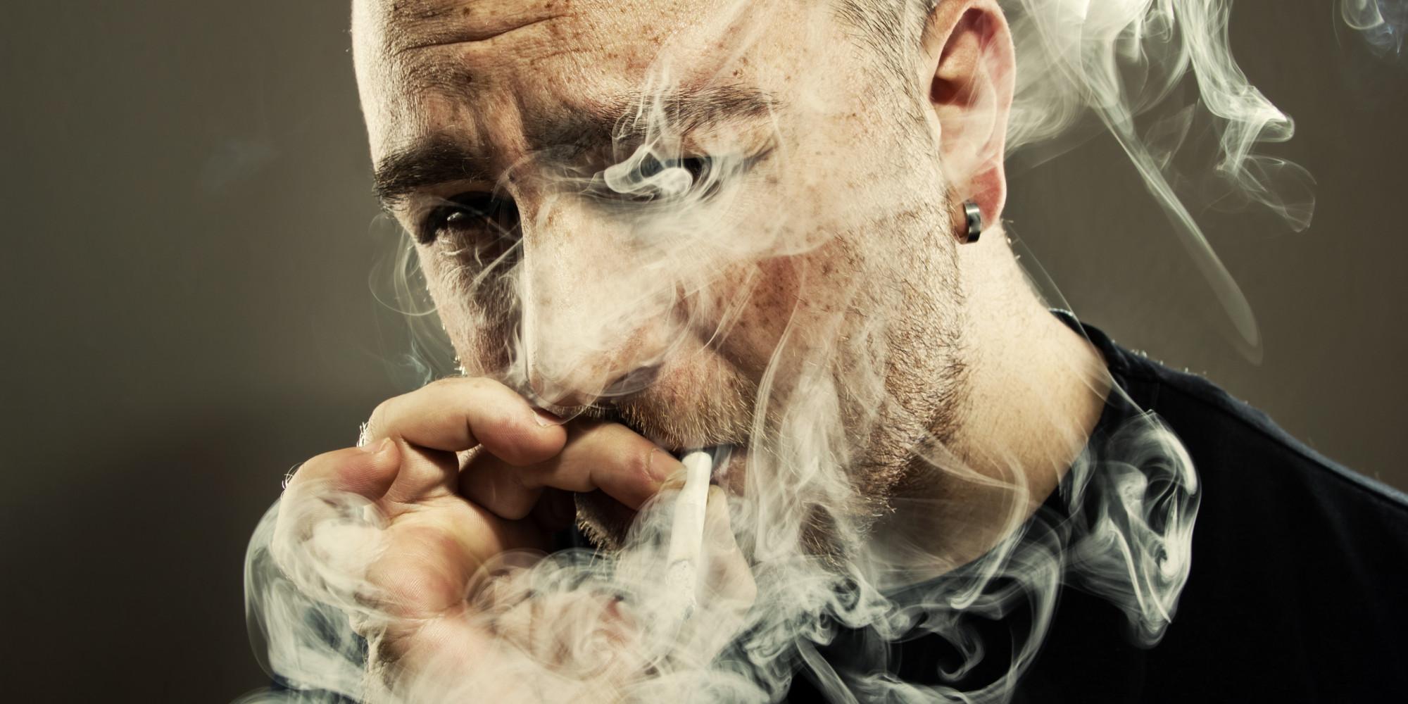 naked guy smoking weed