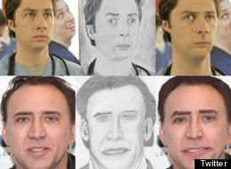 LOOK: If Nicholas Cage, Brad Pitt & Zach Braff Looked Like Their Worst Fan Art...