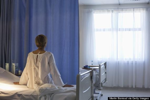 woman patient back