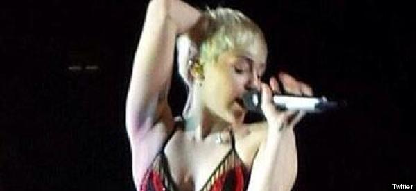 Miley Forced To Perform In Underwear