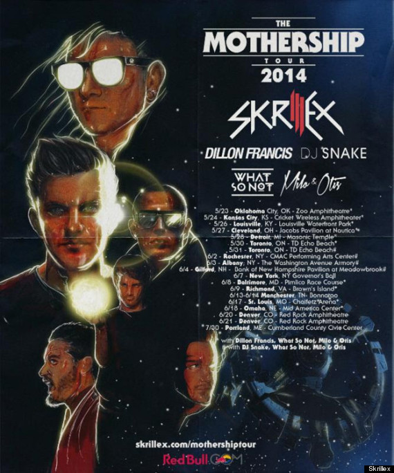 mothership tour 2014
