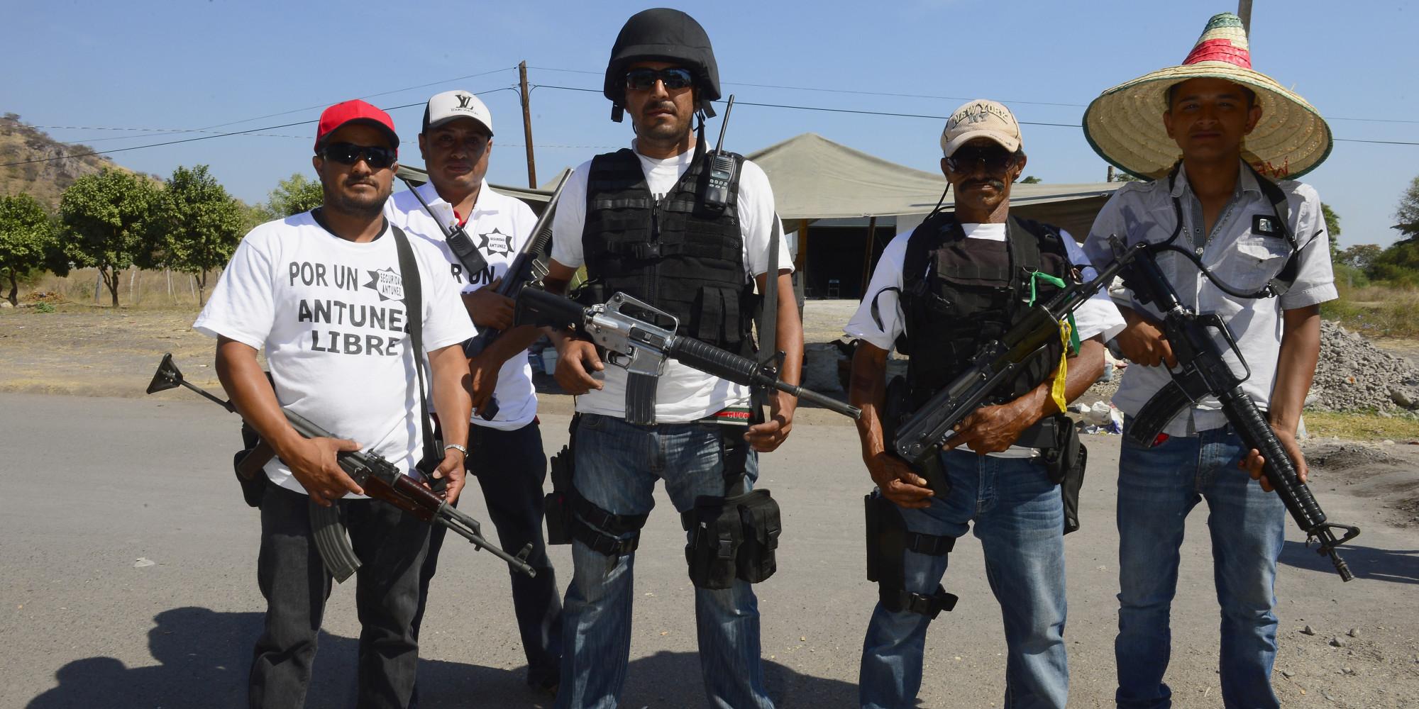 Mexican Masked Vigilantes Mexican Vigilante Movement