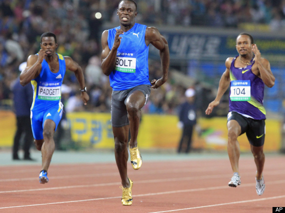Bolt s daegu dominance crushes competition at 100 meter race video