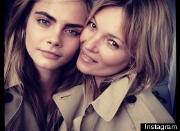Photo: Cara And Kate Join Forces For Burberry