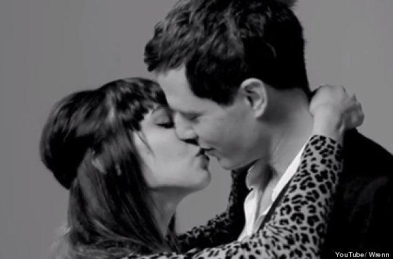 strangers kissing video