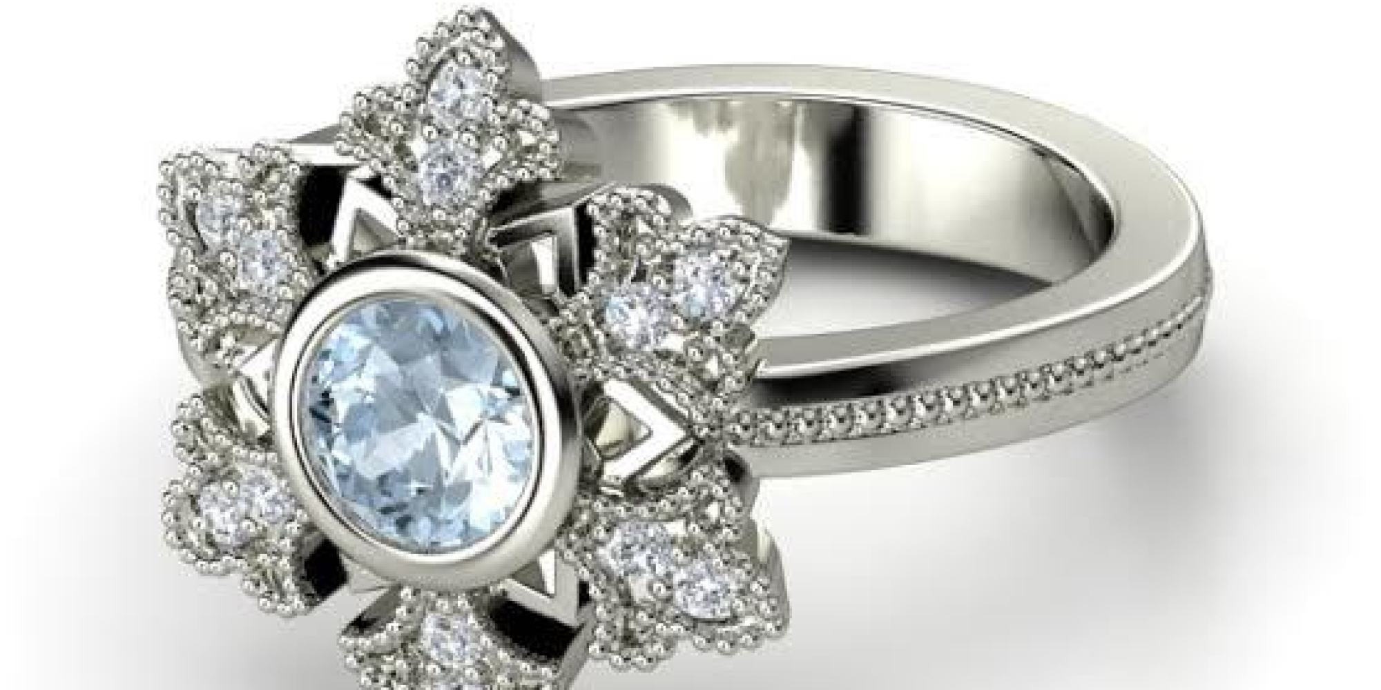 these frozen inspired engagement rings are for diehard fans only huffpost - Disney Wedding Ring