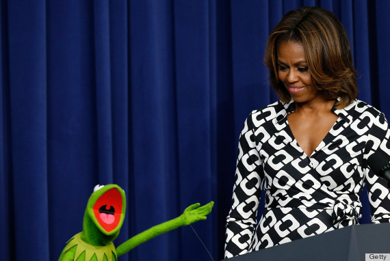 michelle obama and kermit