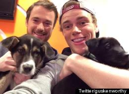 Olympian Reunites With Sochi Rescue Puppies