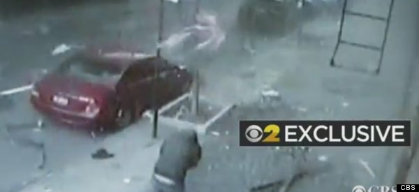 Incredible Security Camera Footage Of The Harlem Explosion