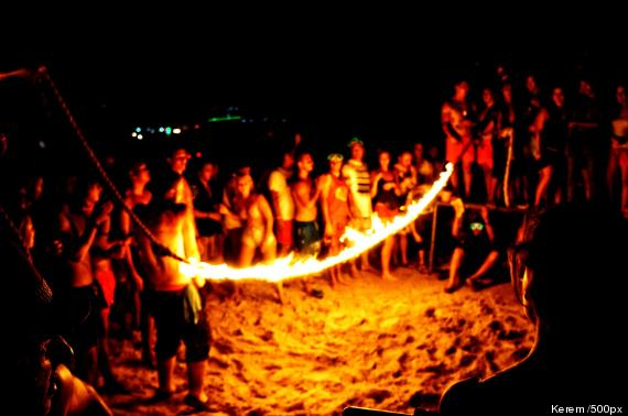 fire party thailand