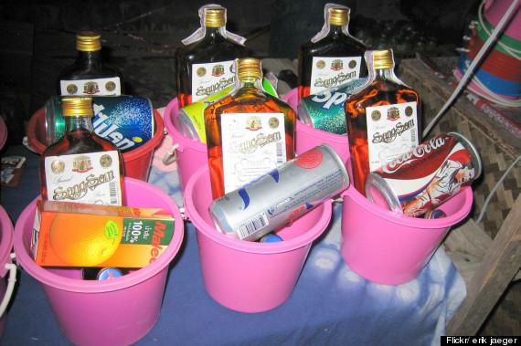 thailand drinking buckets