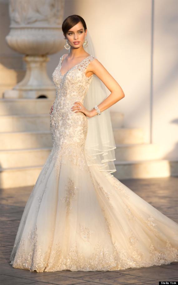 Here 39 s how to get jamie lynn spears 39 wedding look huffpost for Stella york wedding dresses near me