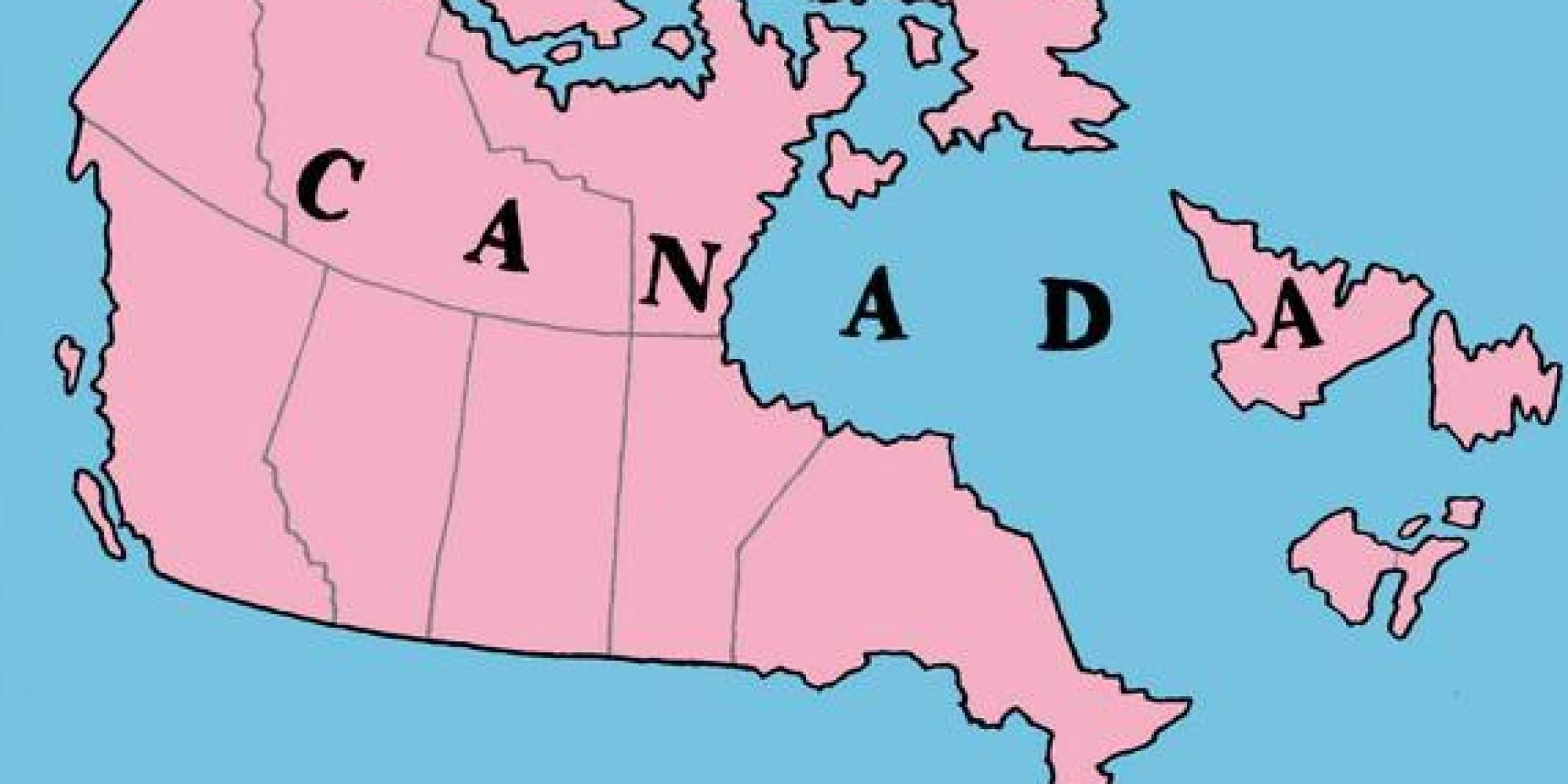 Map Of Canada Without Quebec Map of Canada according to the Québécois : ShittyMapPorn