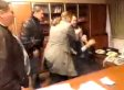 Ukrainian TV Chief Gets Violently Attacked By Right-Wing Politicians While Cameras Roll