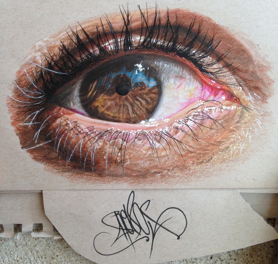 Powerful Eyes Drawing by His Depictions of Eyes