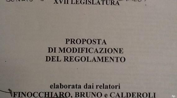 regolamento senato