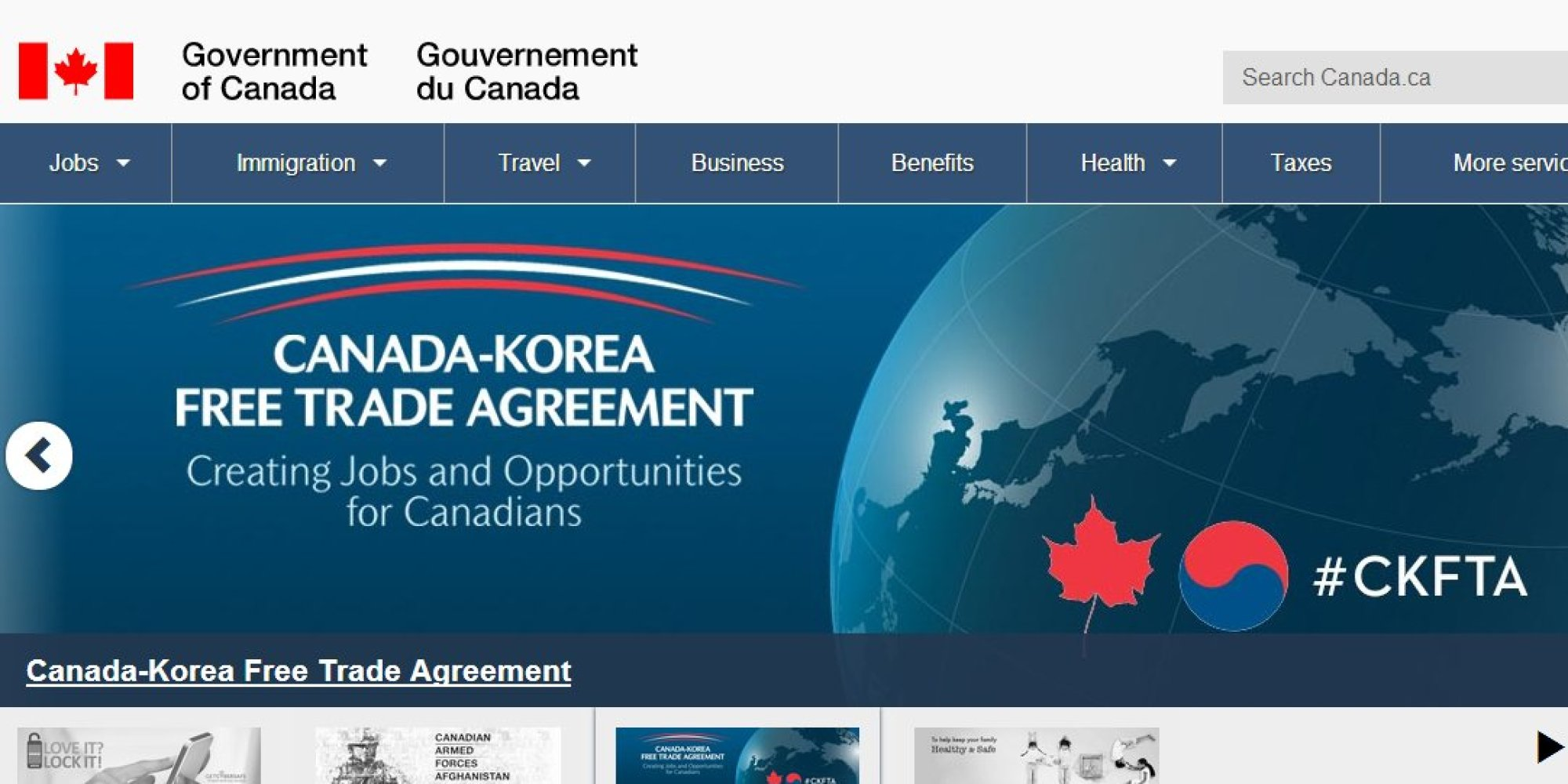 Conservatives Painting Government Of Canada Website Blue ...