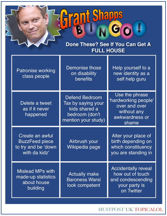 grant shapps bingo