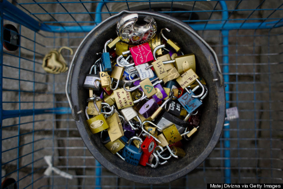 authorities remove love padlocks