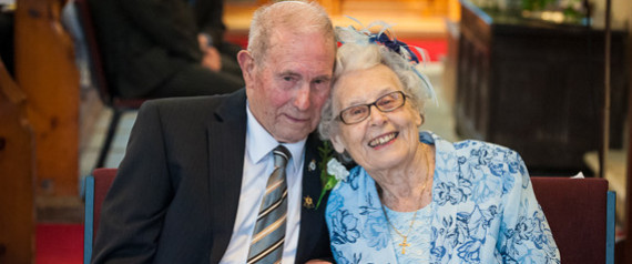 BRITAINS OLDEST NEWLYWED
