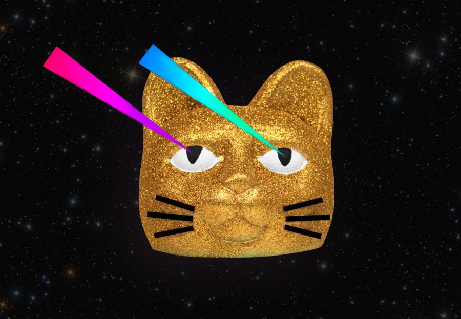 Laser Cat as Art
