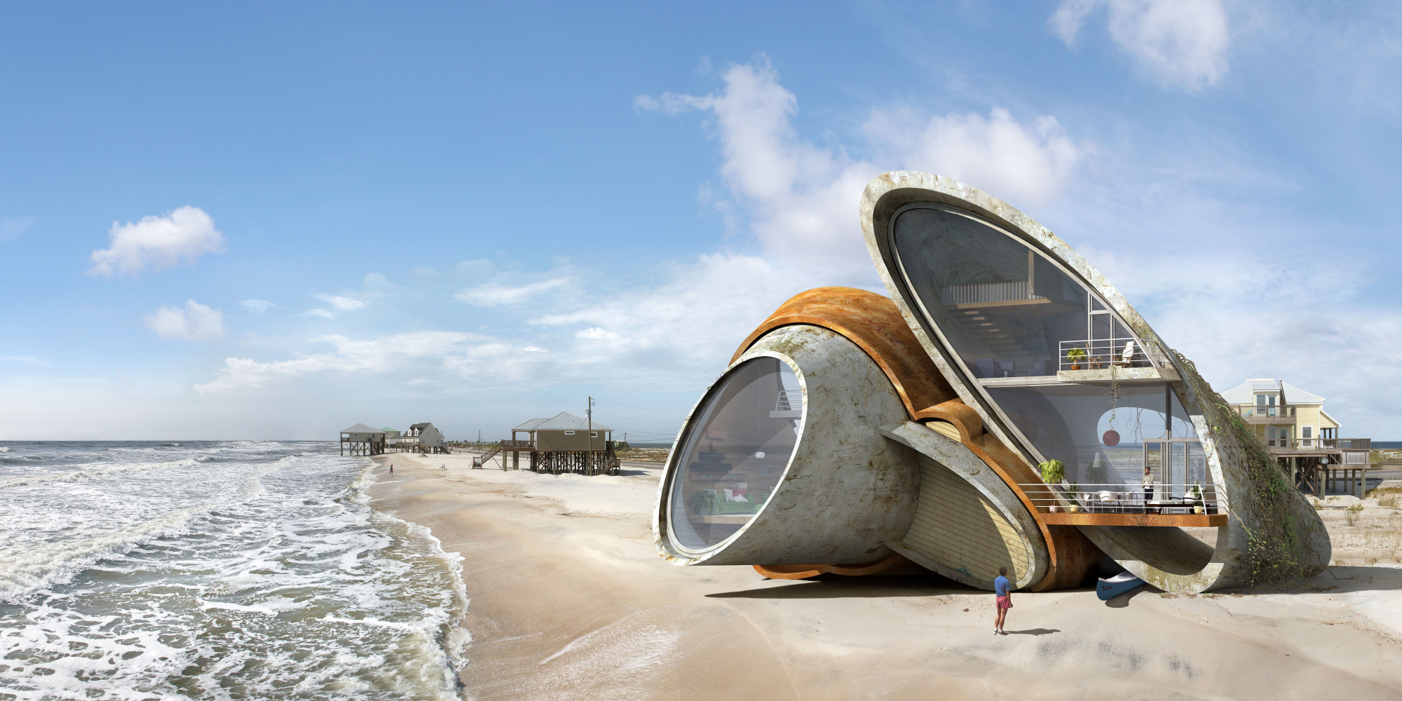 artist designs surreal futuristic forts that can withstand natural disaster huffpost. Black Bedroom Furniture Sets. Home Design Ideas