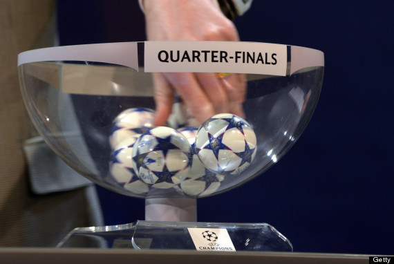 What time is the champions league quarter final draw the huffington