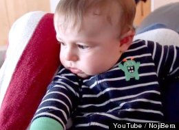 Crying Baby's Mind Is Blown When He Sees Himself Crying