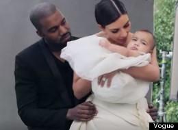 Aww! Kimye Bring Adorable Baby North On Set Of Vogue Shoot