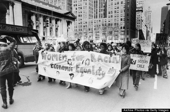 women marching for equal rights